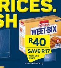 Bokomo Weet-Bix offer at R 40