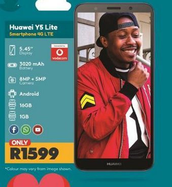 Huawei Y5 Smartphone  offer at R 1599