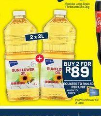 Pick n Pay Sunflower Oil 2 offer at R 89