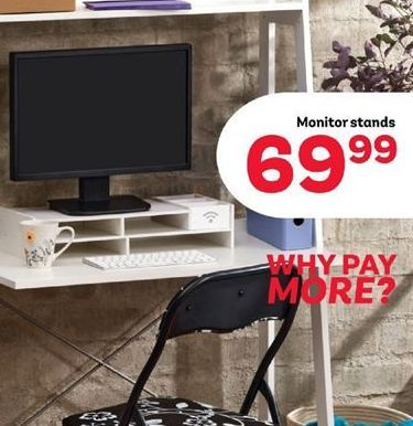 Monitor Stand offer at R 69,99