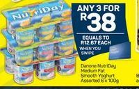 NutriDay Smooth Yoghurt 3 offer at R 38