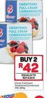 Clover Condensed Milk 2 offer at R 42