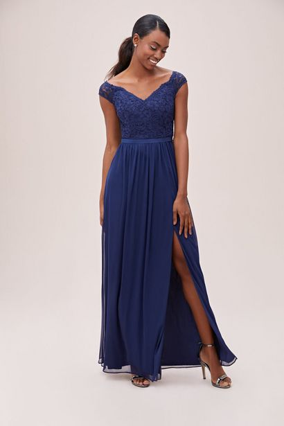 BM00222 Off-the-Shoulder Bridesmaid Dress offers at R 2000
