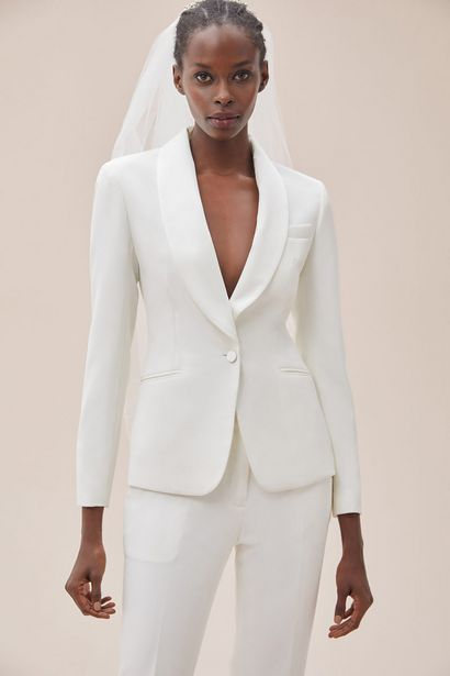 SO01333 BRIDE&CO  Fitted Satin Shawl Lapel Suit Jacket offers at R 2610