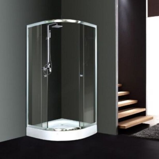Galaxy quadrant shower door – 875 x 875 x 1850 mm – 5mm glass – chrome – excludes tray offers at R 1939,95