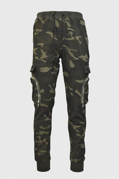 Bakkab Cargo Trackpants (Green Camo) offers at R 649,5