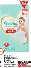 Diapers Pampers offer at R 204,95