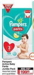 Diapers Pampers offer at R 199,95