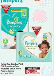 Diapers Pampers offer at R 209,95