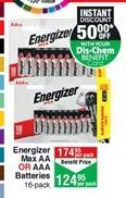 Batteries Energizer offer at R 124,95