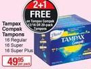 Tampons Tampax offer at R 49,95