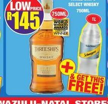 Three Ships Whisky offer at R 145