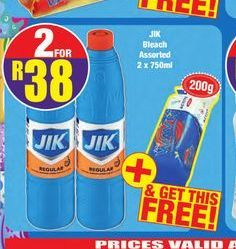 Jik Bleach 2 offer at R 38