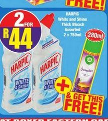 Harpic Bleach 2 offer at R 44