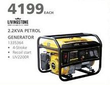 Generator offer at R 4199