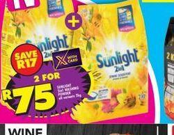 Sunlight Washing Powder 2 offer at R 75