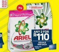 Ariel Washing Powder 2 offer at R 110