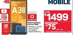 Samsung Galaxy A3 Core Smartphone offer at R 1499