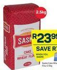 Sasko Cake Wheat Flour offer at R 23,99