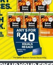 Pick n Pay Baked Beans 5 offer at R 40
