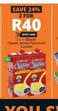 Clover Classic Custard 2 offer at R 40