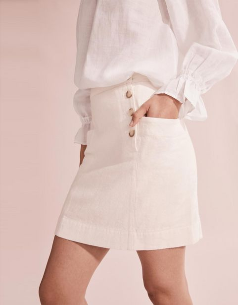 Linen Twill Mini Skirt offers at R 239,2