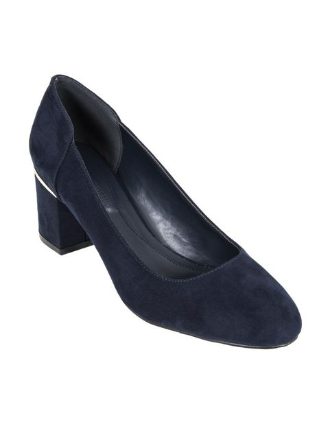Metallic Trim Faux Suede Court Shoes offers at R 208