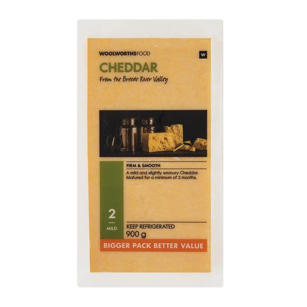 Bulk Cheddar Cheese 900 g offers at R 99,99