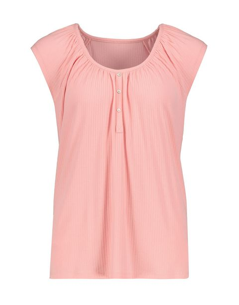 Ribbed Viscose Blend Sleep Top offers at R 118