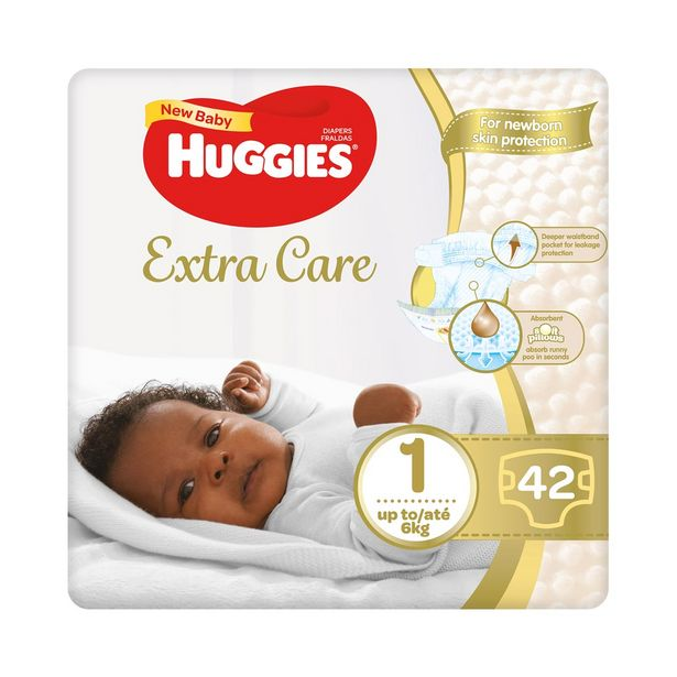 Huggies New Baby No.1 Disposable Nappies 42 pk offers at R 99,99