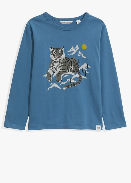 Organically Grown Cotton Snow Tiger T-Shirt offers at R 199,2