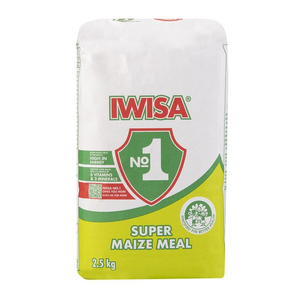 Iwisa No 1 Super Maize Meal 2.5 kg offers at R 18,99