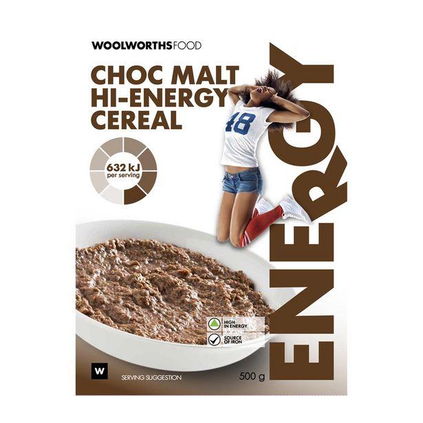 Choc Malt Hi-Energy Cereal 500 g offer at R 46,99