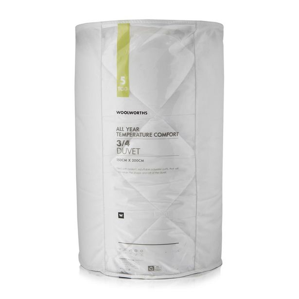 All Year Round Temperature Comfort 5 Tog Duvet offers at R 499