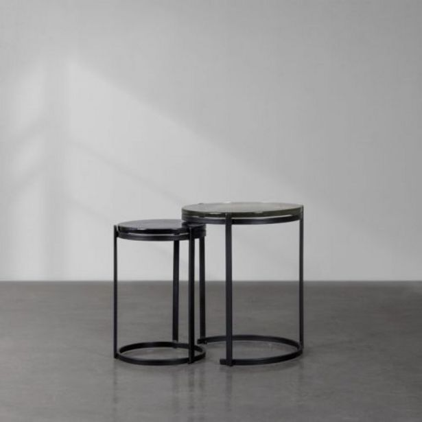 Thick Glass Nesting Table offer at R 6396