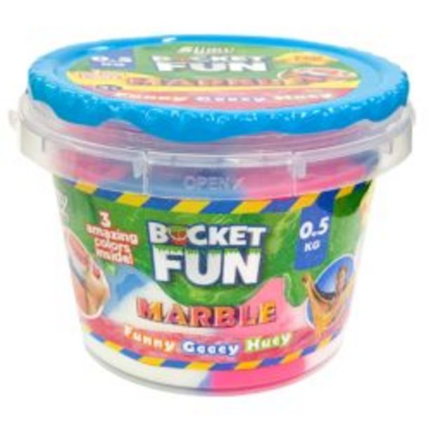 Mega Slimy In Bucket – 3 Mixed Colors offer at R 229,9