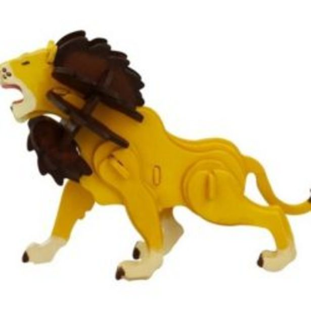 3d Wooden Puzzle With Paints Lion offer at R 119,9
