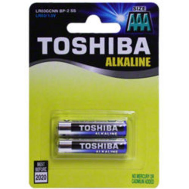 Toshiba Aa Alk Batteries 2 Pack offer at R 29,9