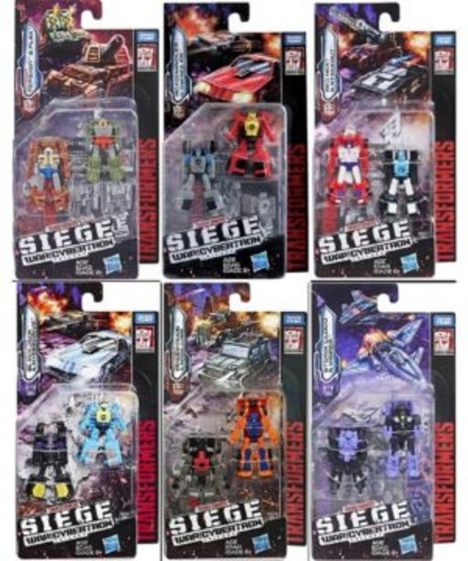 Transformers Siege Micromasters offers at R 299,9