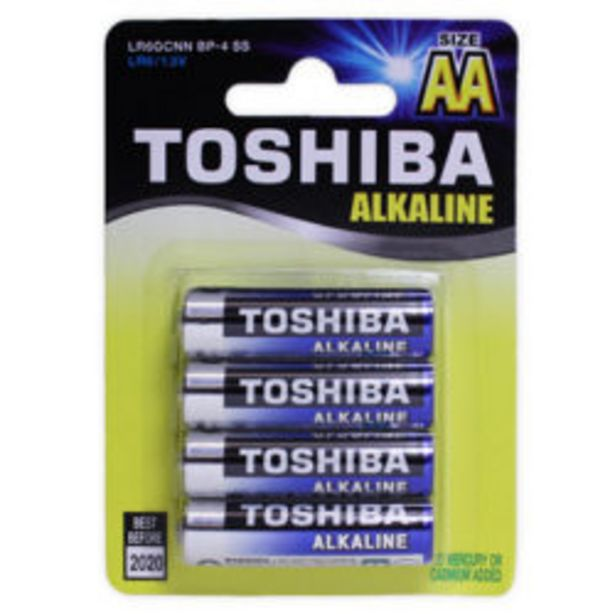Toshiba Aa Alk Batteries 4 Pack offer at R 49,9