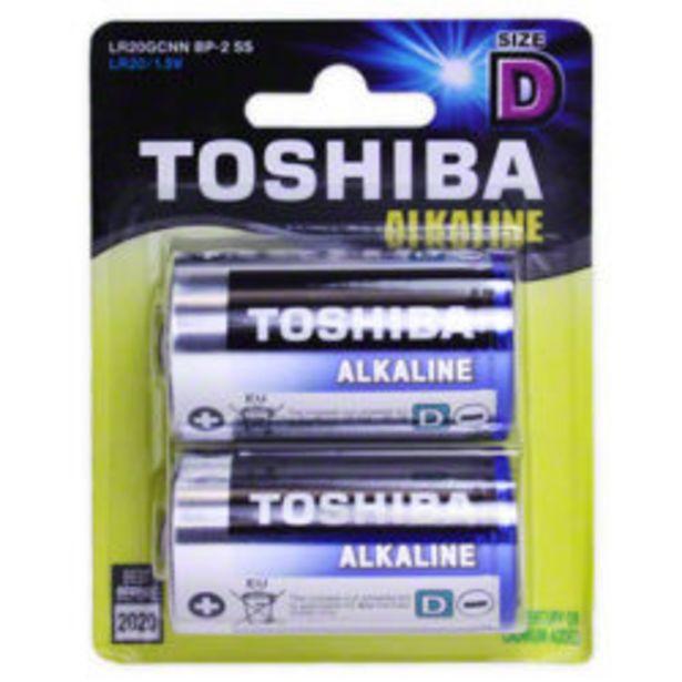 Toshiba D Alkaline Batteries 2 Pack offer at R 89,9
