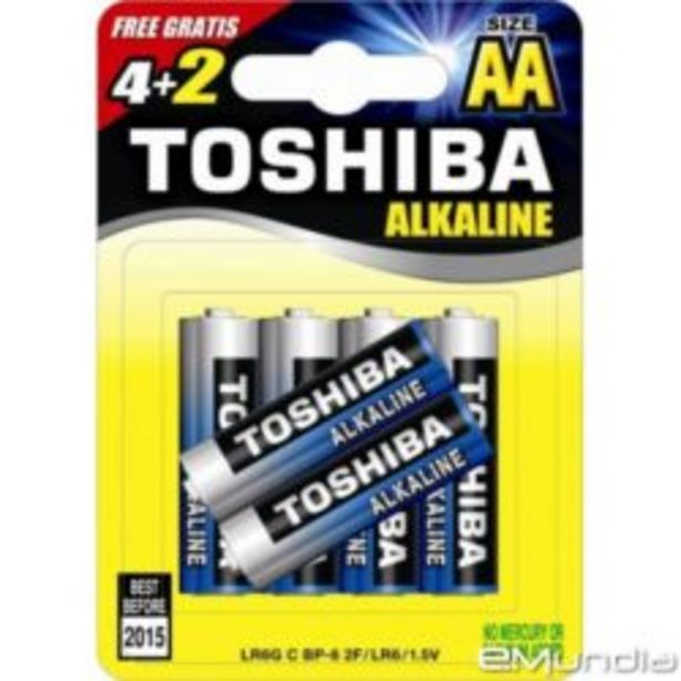 Toshiba Aa Alk Batteries 6 Pack offer at R 69,9