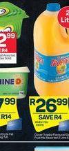 Fruit juice offer at