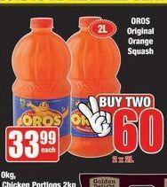 Oros Orange Squash 2 offer at R 60