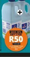 Clover Fresh Milk  2 offer at R 50