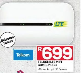Telkom LTE MiFi offer at R 699