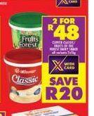 Clover Classic Yogurt 2 offer at R 48