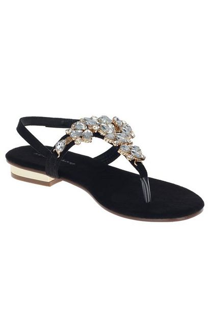 Crystal Clear Embellished Thong Sandal offer at R 400
