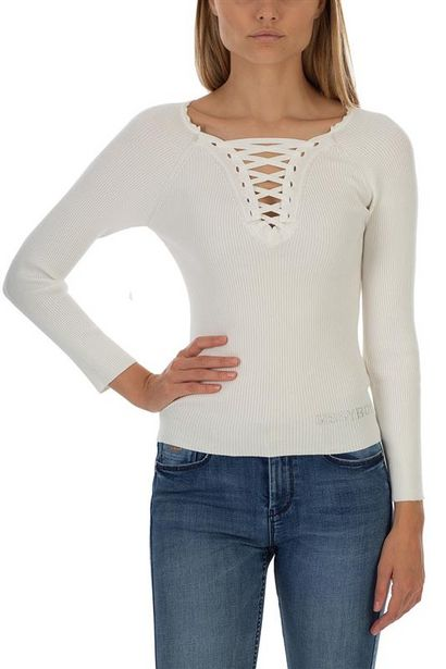 Lace Up Front Knit With Small Bling Logo And Neck Detailing offers at R 400