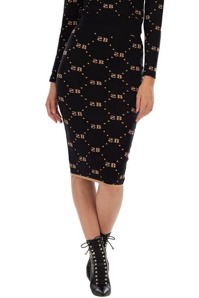 Knit Skirt With Glitter Repeat Logo offers at R 400